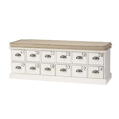 bench with storage drawers home decorators collection corollary 12 drawers antique