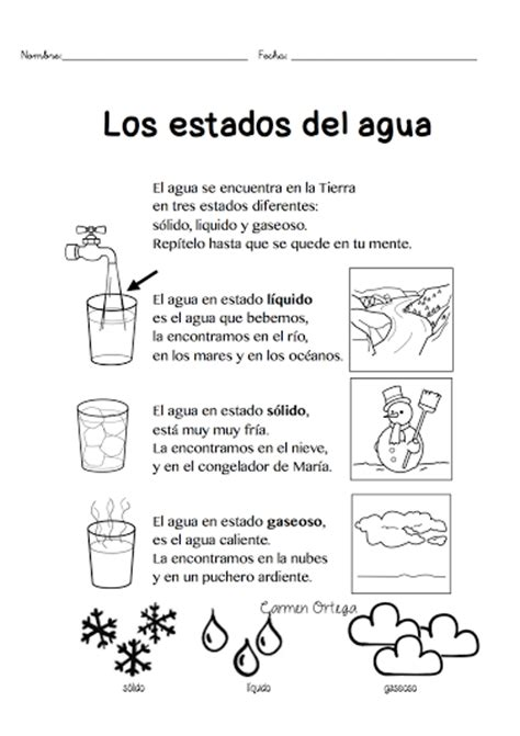 estados del agua para colorear los estados del agua para escolares dibujos escolares