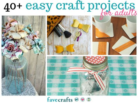 simple arts and crafts projects for adults 44 easy craft projects for adults favecrafts