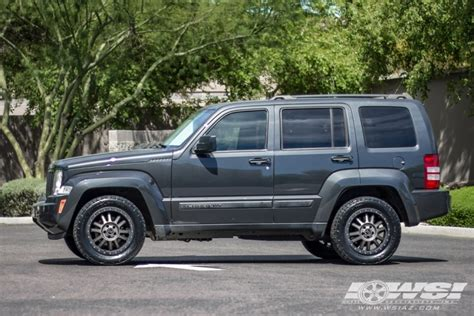 matte black jeep liberty 2011 jeep liberty with 18 quot black rhino off road tanay in