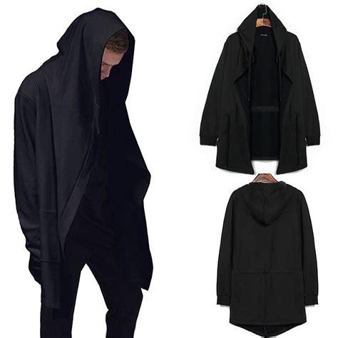 Kaos Hoodie Polos Lengan Panjang Longline Streetwear Hypebeast Murah get cheap assassin cloak aliexpress alibaba