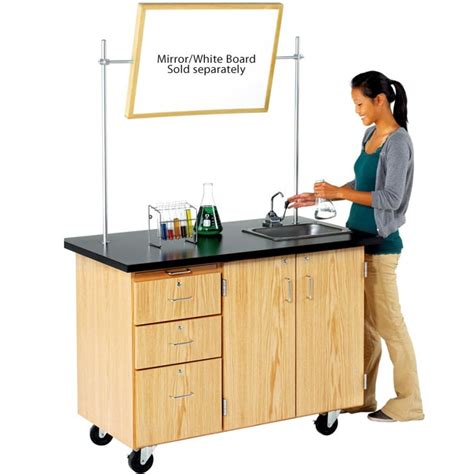 mobile desk with storage diversified woodcrafts 4332k mobile storage desk with sink