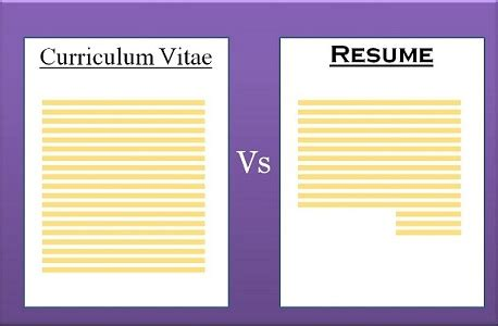 difference between cv and resume with comparison chart key differences