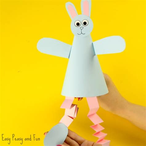 Cone Paper Craft - paper cone bunny craft easy peasy and