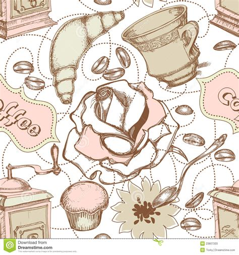 kitchen pattern white spoon with ornate print stock image cartoondealer