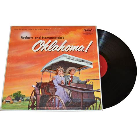 Okla Records 1955 Rodgers And Hammerstein S Oklahoma Lp Record W Foldout History From