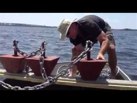 homemade boat buoy diy 600lb boat mooring installation part 1 youtube