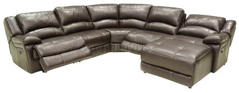 Reclining Modern Sofa Mahogany Leather 5pc Reclining Modern Sectional Sofa