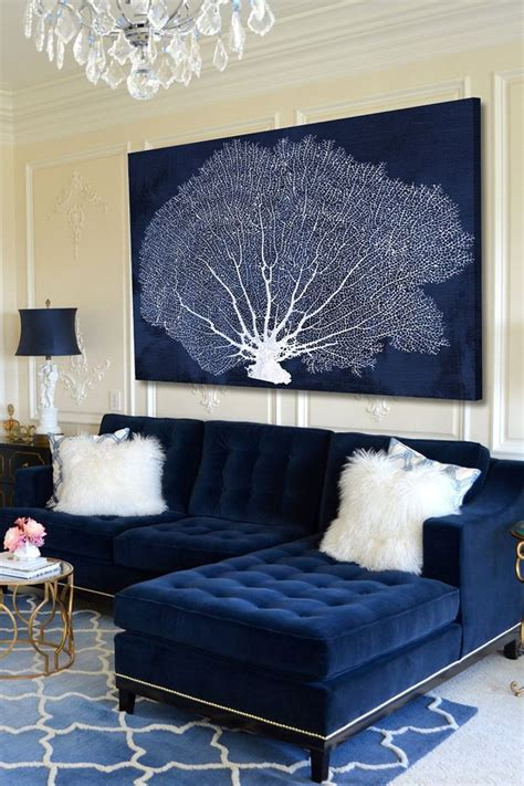 navy blue sofas decorating 25 stunning living rooms with blue velvet sofas blue
