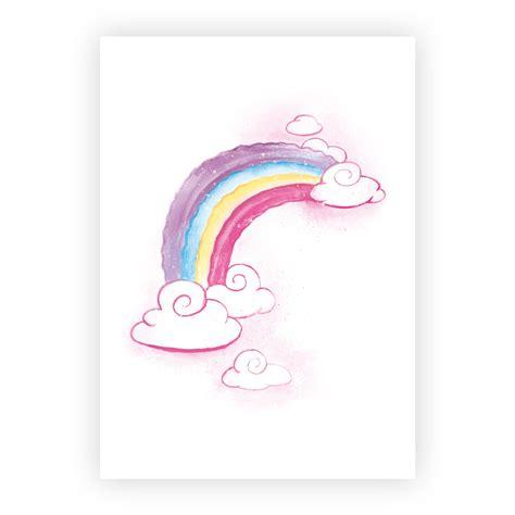 bild kinderzimmer regenbogen bilder kinderzimmer m 228 dchen aquarell einhorn poster 3er