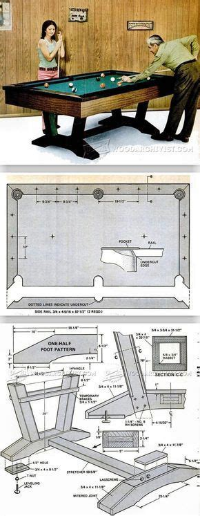 pool table plans woodworking plans  projects