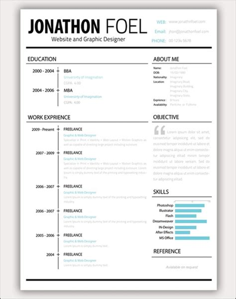 Best Looking Resume Template by 30 Amazing Resume Psd Template Showcase Streetsmash