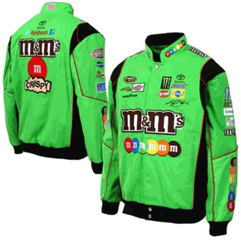 design your own nascar jacket kyle busch m m s mens green twill nascar jacket by jh design