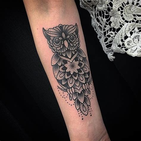 tattoo mandala owl mandala tattoo owl mandalatattoo on instagram