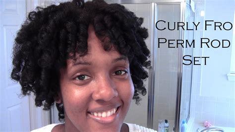 curly perm youtube curly fro perm rod set natural hair youtube