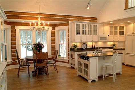 Kitchen Ideas Log Homes Josie S Cabin Rustic Kitchen Grand Rapids By Sears