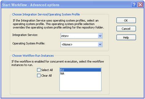 configure concurrent execution workflow informatica configure concurrent execution workflow informatica
