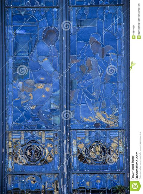blue stained glass l blue stained glass church window stock photo image of