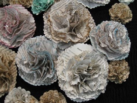How To Make Recycled Paper Flowers - last chance books 187 book flowers