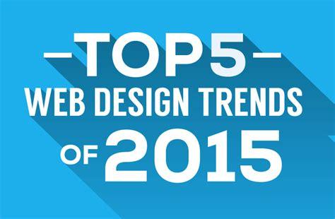 graphic design 2015 2015 web design trends infographic