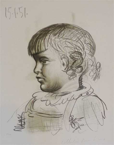 picasso paintings from childhood pablo picasso portrait d enfant print for sale at 1stdibs