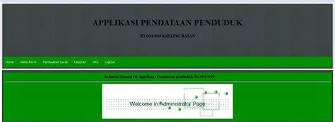 tugas membuat web dengan php tugas applikasi sensus penduduk dengan php dan database