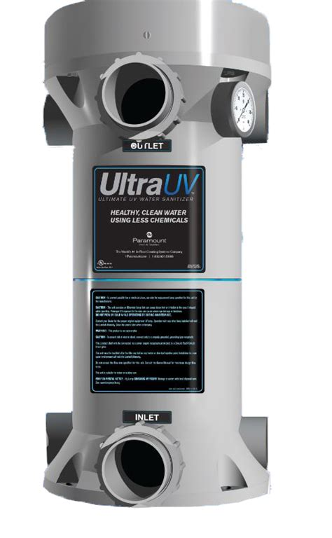 lighting sanitizer on paramount ultraviolet water sanitizer system 1 l 120v