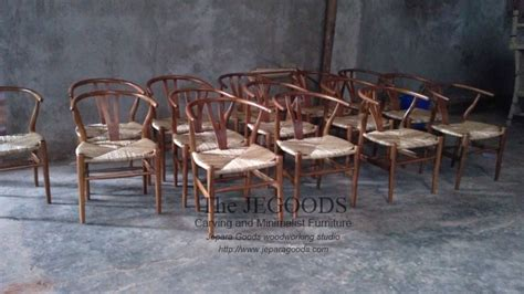 Jual Kursi Barbershop Vintage 187 replica of wishbone hans wegner chair kursi cafe hans wegner jati