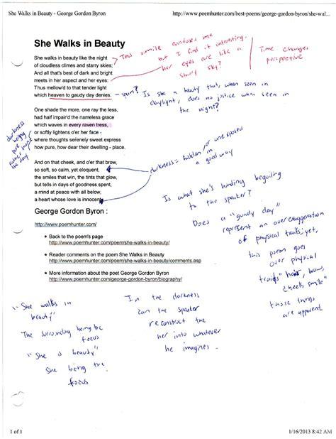 She Walks In Essay by Analysis Of She Walks In Sociologydissertations Web Fc2
