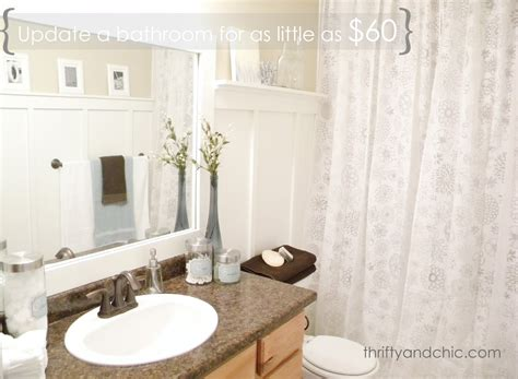 inexpensive bathroom makeover thrifty and chic diy projects and home decor