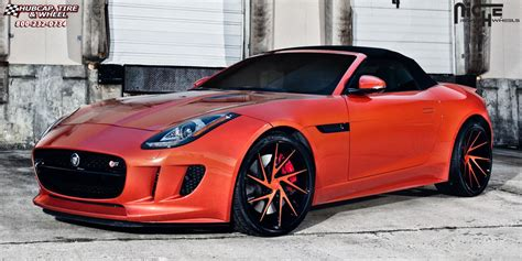 jaguar f type custom jaguar f type niche invert wheels gloss black windows