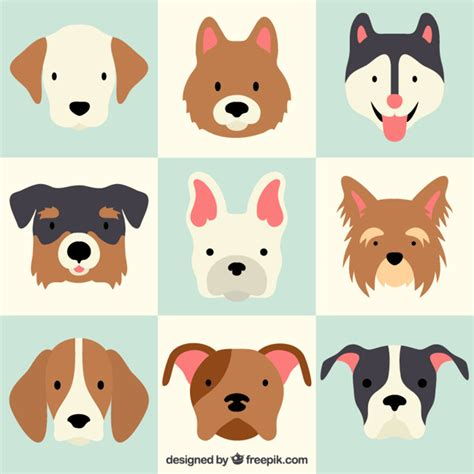 puppy vector lovely breeds vector free