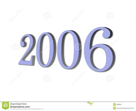 year of 3d brand new year 2006 stock photography image 282802