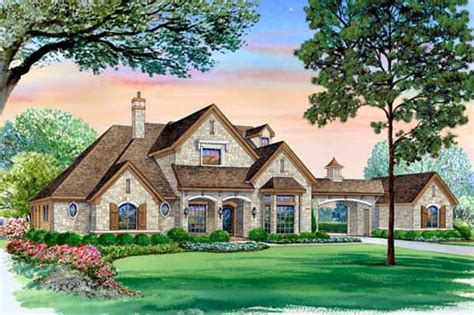 house plans with portico english country style house plans 5518 square foot home 2 story 5 bedroom and 5 bath 3