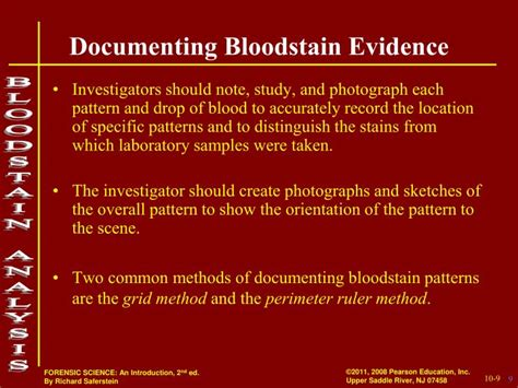 bloodstain pattern analysis powerpoint ppt crime scene reconstruction forensic bloodstain