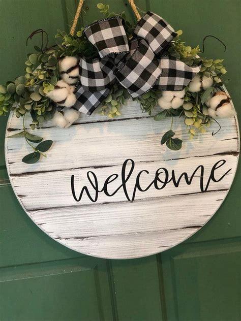door hanger shiplap door sign personalized