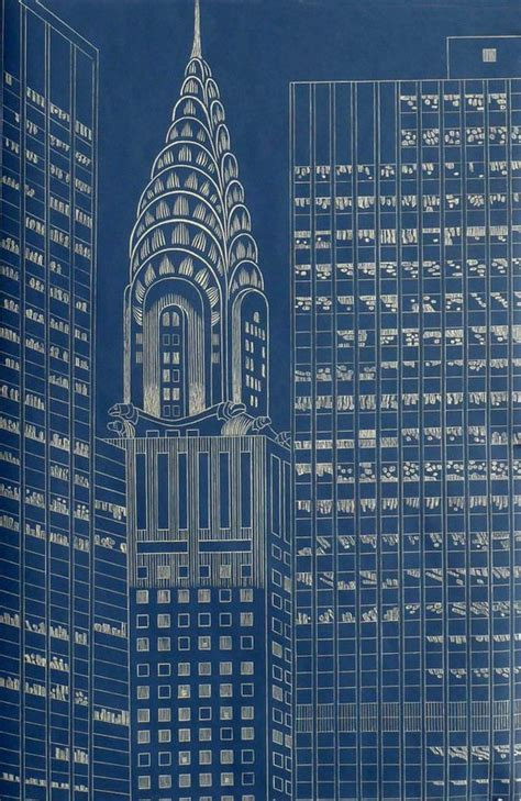 Chrysler Building Blueprint by Yvonne Jacquette Artist Bio And For Sale Artspace