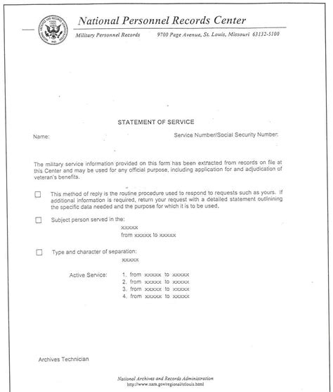 Proof Of Service Letter Usaf statement of service letter levelings