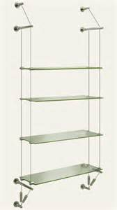 cable suspended glass shelves cable displays systems for shops offices