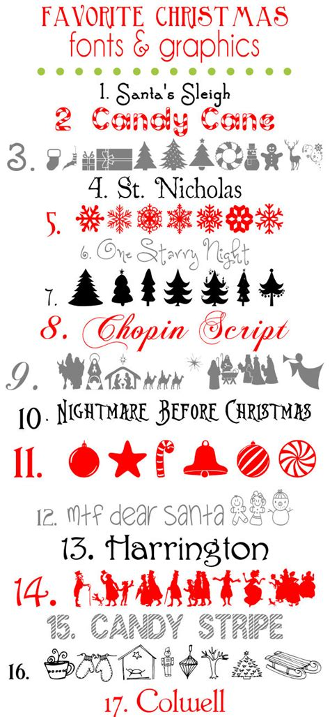 favorite christmas fonts and graphics