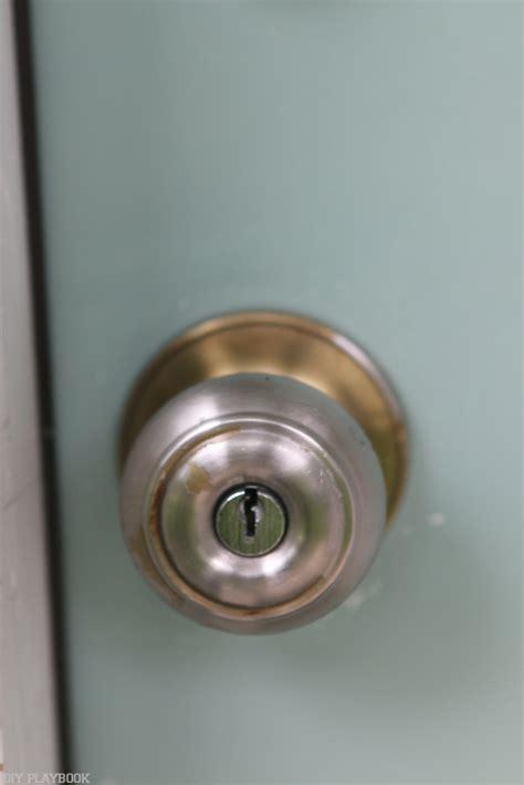 Replace Exterior Door Knob How To Update Your Door Lock For Better Curb Appeal The Diy Playbook