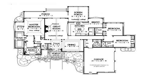 large one story house plans one story luxury house plans