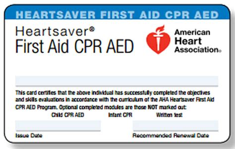 American Association Heartsaver Cpr Card Template by Pre Apprenticeship Pre Apprenticeship