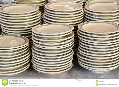 To Market Recap Outdoor Plates by Stack Of Ceramic Plates Royalty Free Stock Images Image