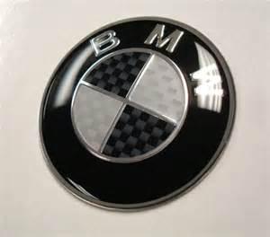 Bmw Steering Wheel Emblem Bmw Black Silver Carbon Fiber Steering Wheel Emblem Cargym