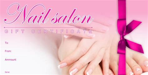manicure gift certificate template free gift certificate template for nail salon gift ftempo