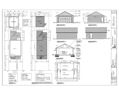 drawing of a house with garage building permit drawings