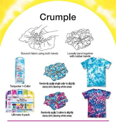 crumple tie dye technique from tulip favecrafts