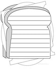 Sandwich Template For Writing by Shape Poems Enchantedlearning