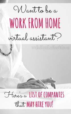 work  home virtual assistant